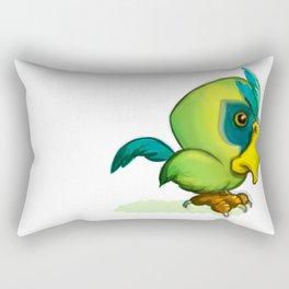 Green Parrot Rectangular Pillow