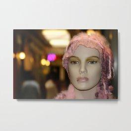 Shopping Girl Metal Print