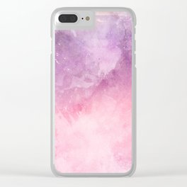 Pink & Puprple Watercolor Clear iPhone Case