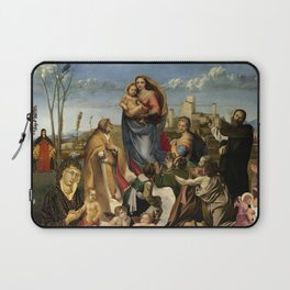 Madonna with child Laptop Sleeve