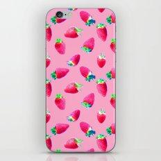 Pink Strawberry Pop iPhone & iPod Skin
