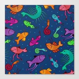 extraordinary sea creatures Canvas Print