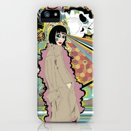 Patterns Form Where Tears Fall iPhone Case