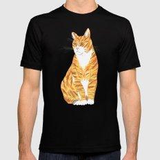 Ginger cat Black Mens Fitted Tee MEDIUM