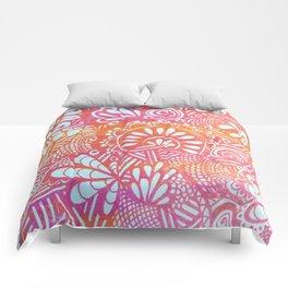 harvest print Comforters