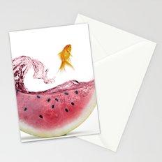 watermelon goldfish Stationery Cards