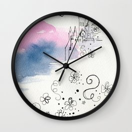 The arrival of the baby girl Wall Clock