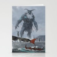 Stationery Cards featuring at the edge of the world by Jakub Rozalski