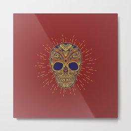 Golden catrina Metal Print