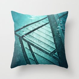 Paving Slabs and Railings. Throw Pillow