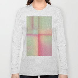 """Sherbert"" pastel Colored Abstract Design Long Sleeve T-shirt"