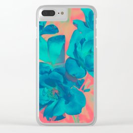 The Blue Rose Clear iPhone Case