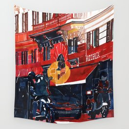 Rome Pizzeria Entrance Wall Tapestry