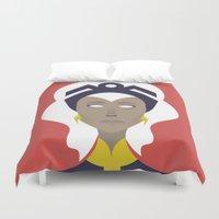 x men Duvet Covers featuring Storm X-Men Portrait by Craig Anthony Design