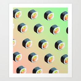 Sushi Rolls Art Print
