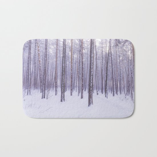 Snow in Trees Bath Mat