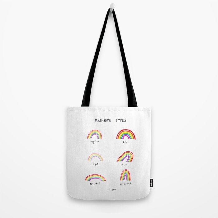 rainbow types Tote Bag