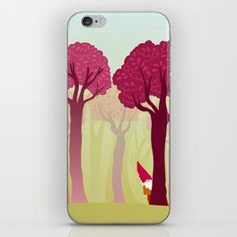 colorful forest with cute dwarf iPhone Skin
