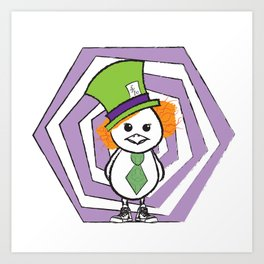 Mad Hatter Chicky Art Print