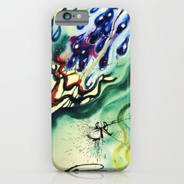 Alice in Wonderland - The Pool of Tears portrait painting by Salvador Dali iPhone Case