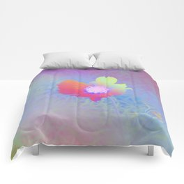 Holographic Flower Photography Comforters