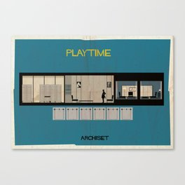 Play time_ Directed by Jacques Tati Canvas Print