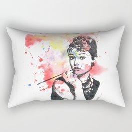 Audrey Hepburn Painting Rectangular Pillow