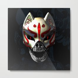 KITSUNE DEATH Metal Print