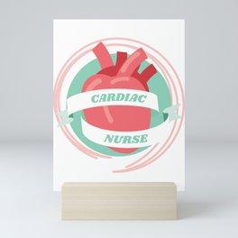 Cardiac Nurse Gift for Cardiology Nursing Team Gift Mini Art Print