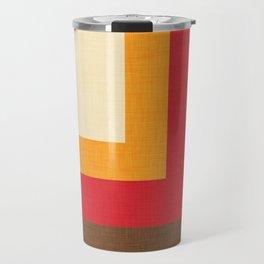 Abstract Mod Cube Beige #midcenturymodern Travel Mug