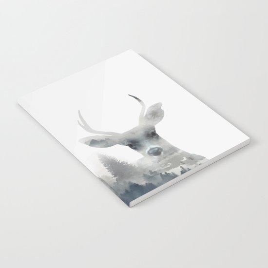 Fearless  winter deer Notebook
