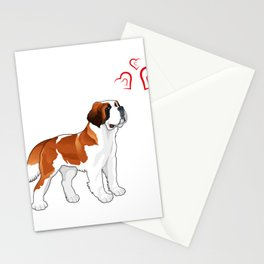 Bernard Lover . Cool Gift For Daughter/Son. Stationery Cards