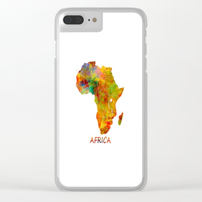Africa map colored Clear iPhone Case