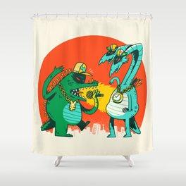 Kaiju Rap Battle Shower Curtain