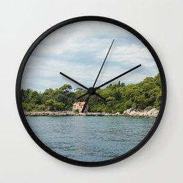 Lokrum Dubrovnik 4 Wall Clock