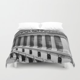 Vintage NYC Stock Exchange Photograph (1908) Duvet Cover