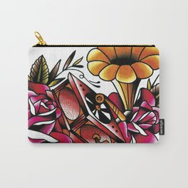 Traditional Roses and Phonograph Carry-All Pouch