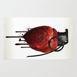 Heart Grenade Rug