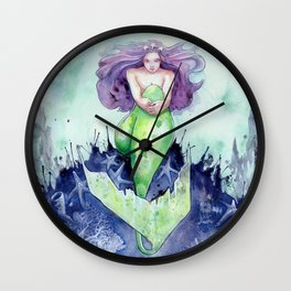 Reef Mermaid Wall Clock
