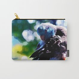 Peter the Parrotlet-Watercolor effect Carry-All Pouch