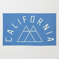 california Area & Throw Rugs featuring California by Roland Lefox