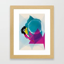 Compressed Colour Framed Art Print