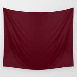Dark Burgundy - Pure And Simple Wall Tapestry