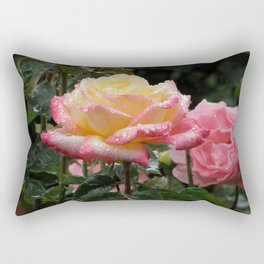 Rose in the Rain Rectangular Pillow