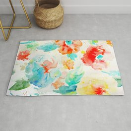 Abstract Flowers 02 Rug