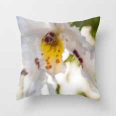 Orchid White Throw Pillow