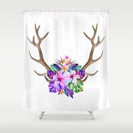 Floral Horn Shower Curtain