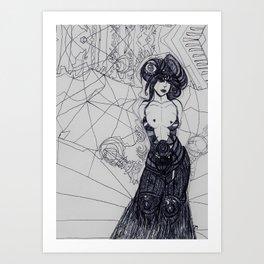 Ms Biro Art Print