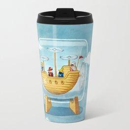AIRSHIP IN A BOTTLE Travel Mug