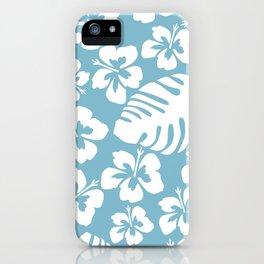 Powder Blue Tropical Breeze iPhone Case